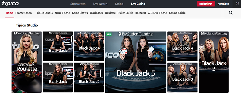 Tipico Live Casino Screenshot
